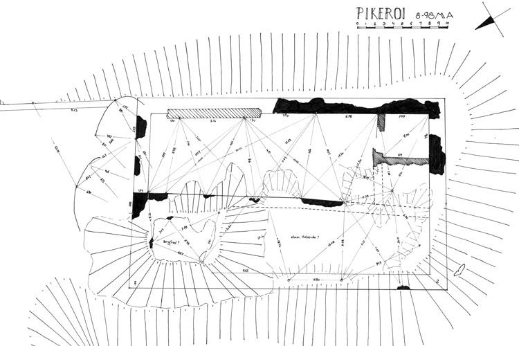 Pikeroi: Grundriss der Burganlage