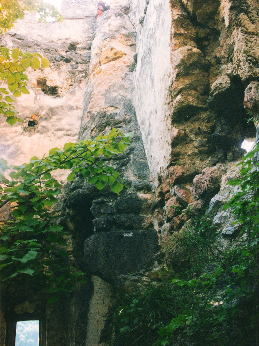 Thernberg: romanischer Mantelkamin an der Westwand