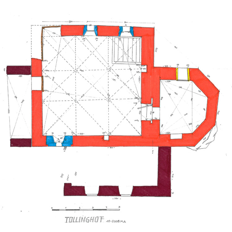 Tollinghof: Grundriss