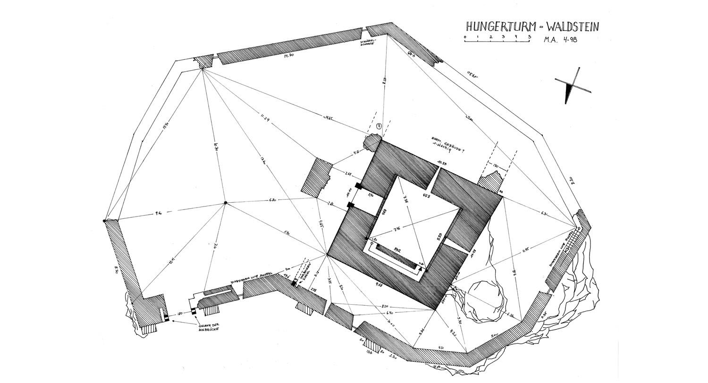Hungerturm Waldstein: Grundriss