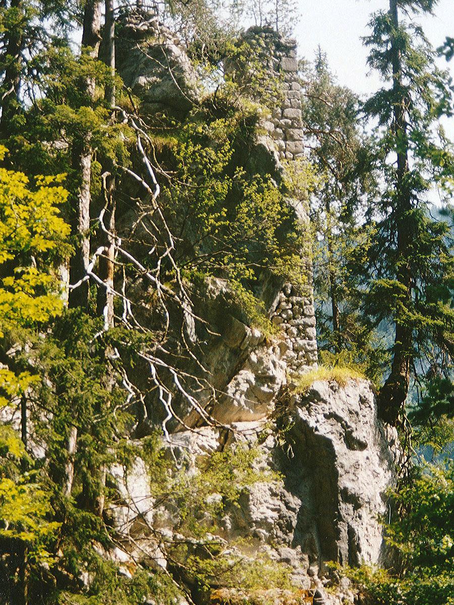 Saalegg: Ansicht von der Bergseite.