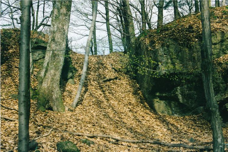 Alt-Gleichenberg: der erste Halsgraben zwischen Hauptburg und Vorburg.