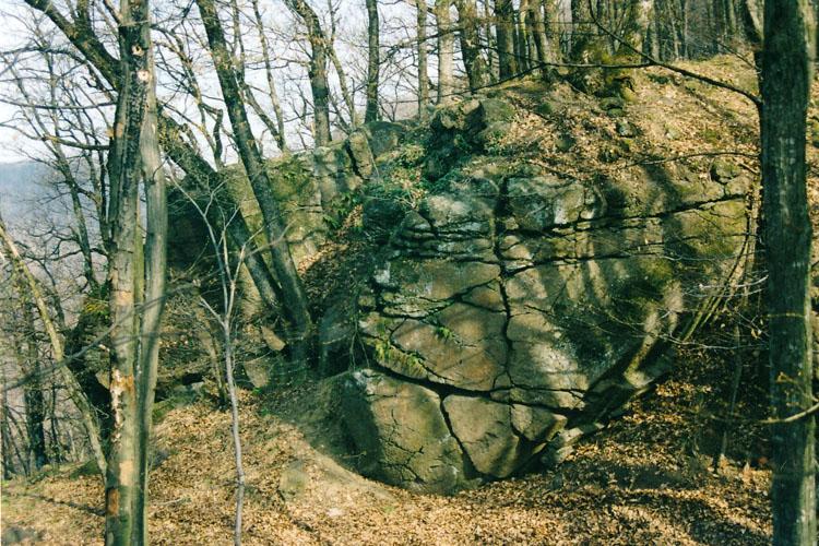 Alt-Gleichenberg: der zweite Halsgraben.