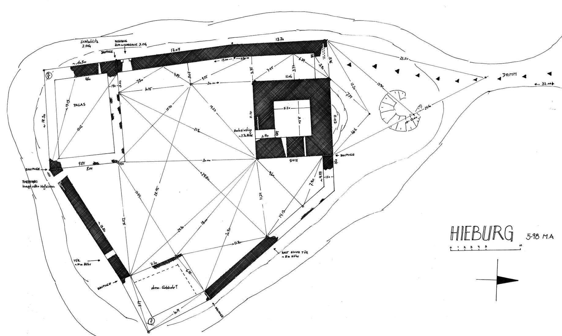 Hieburg: Grundriss, 1998