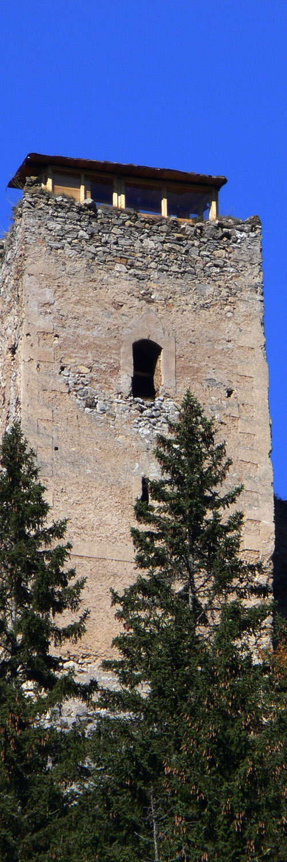 Kammerstein: Bergfried Südseite