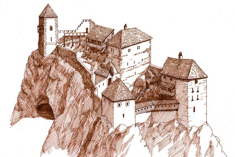 Kammerstein: Rekonstruktionsversuch des Zustands um 1450.