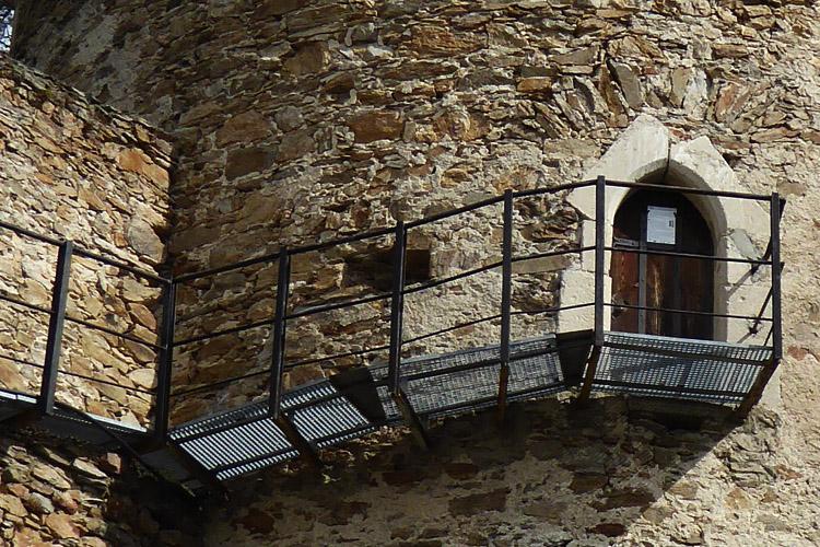 Kollmitz: Eingang zum Hungerturm.