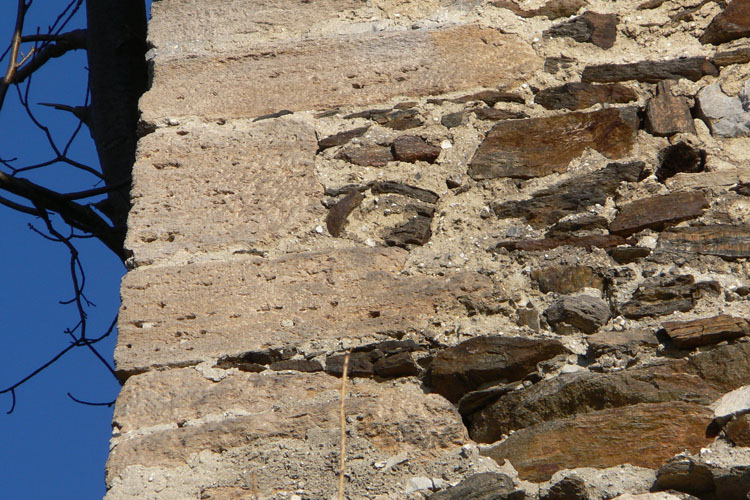 Offenburg: Eckquaderung des Bergfrieds.