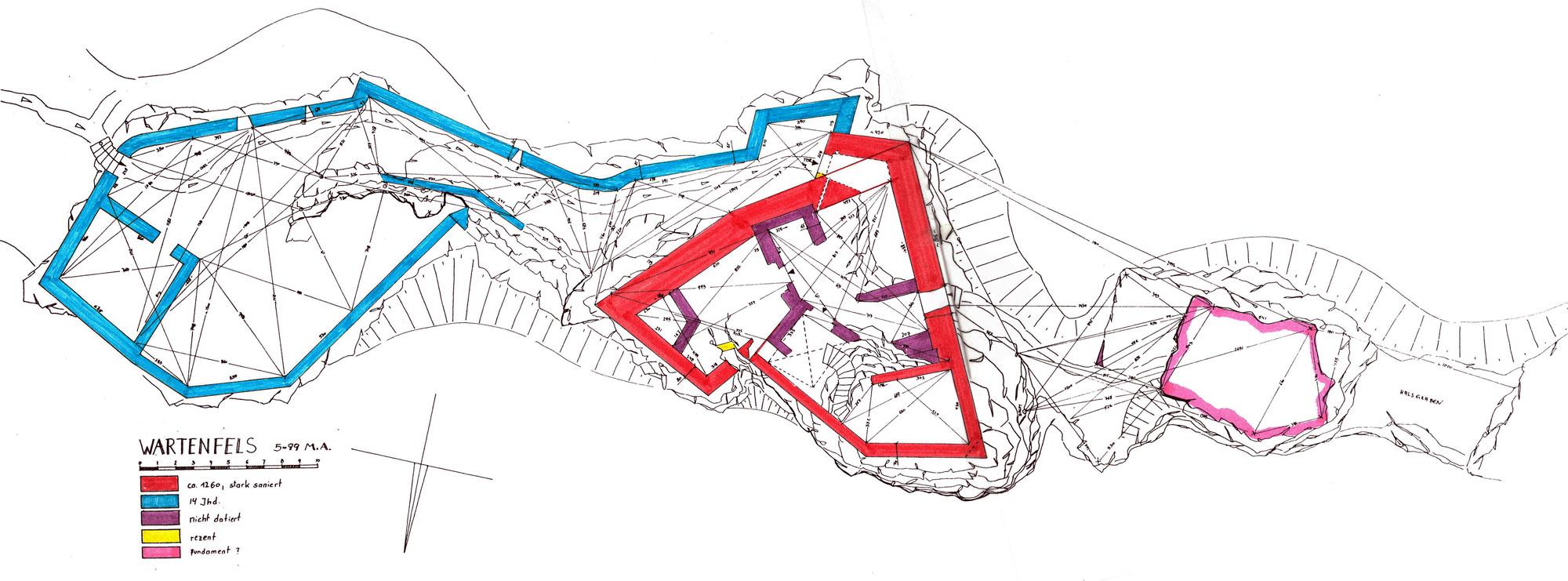 Wartenfeld: Grundriss und Baualterplan, 1999.