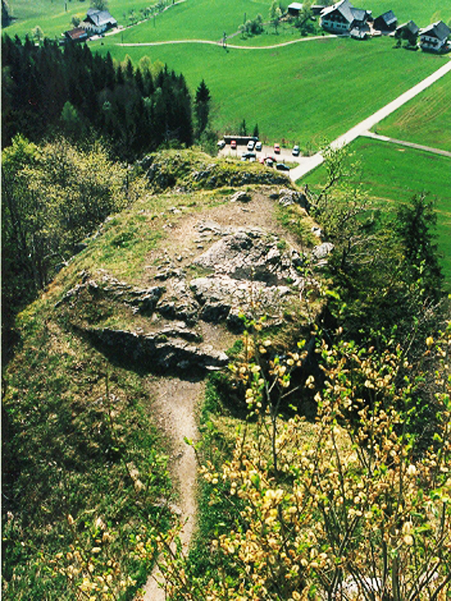 Wartenfels: Felskopf westlich der Hochburg.