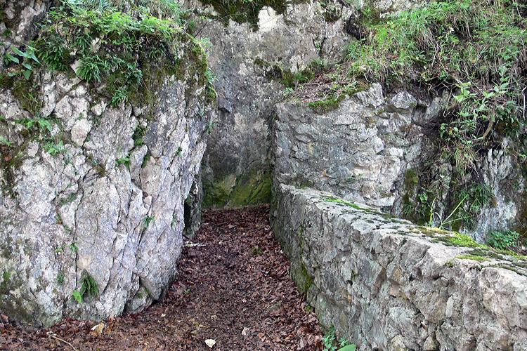 Wartenfels: nördliches Ende der Vorburg.