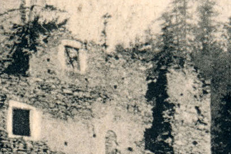 Niederkraig: Palas Südseite, 2. Obergeschoss, Foto 1913.