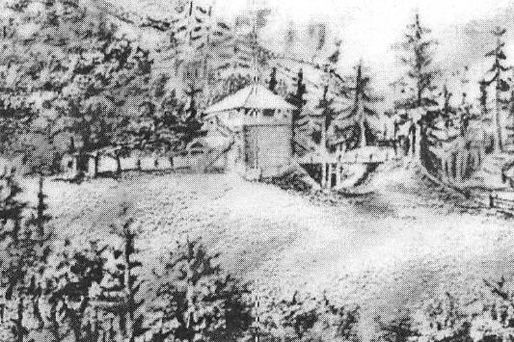 Säusenstein: Ansicht um 1850