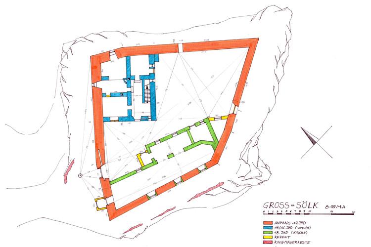 Gross-Sölk: Grundriss und Baualterplan