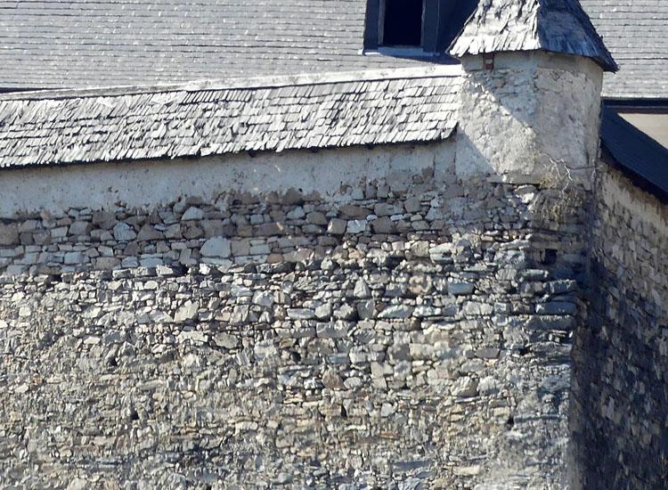 Gross-Sölk: Mauerkrone de südlichen Ringmauer