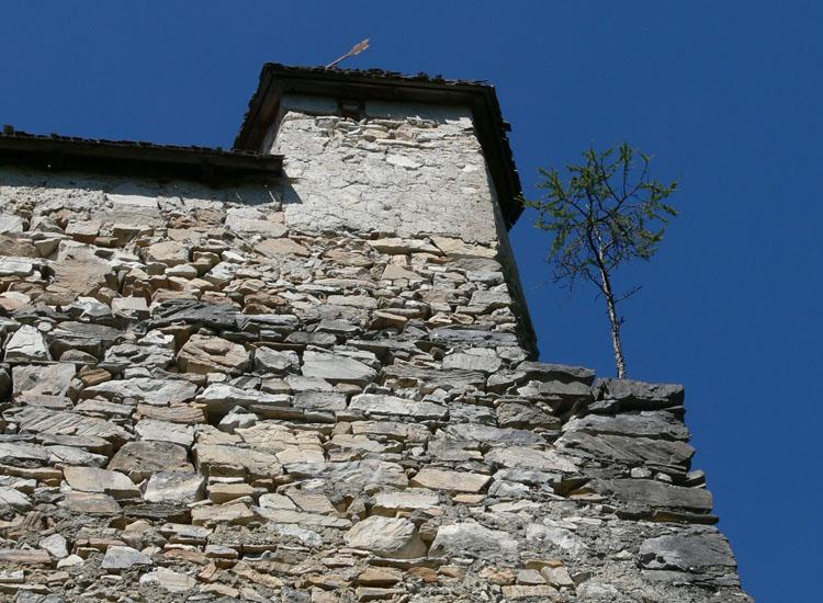 Gross-Sölk: Scharwachtürmchen an der Südost-Ecke der Ringmauer
