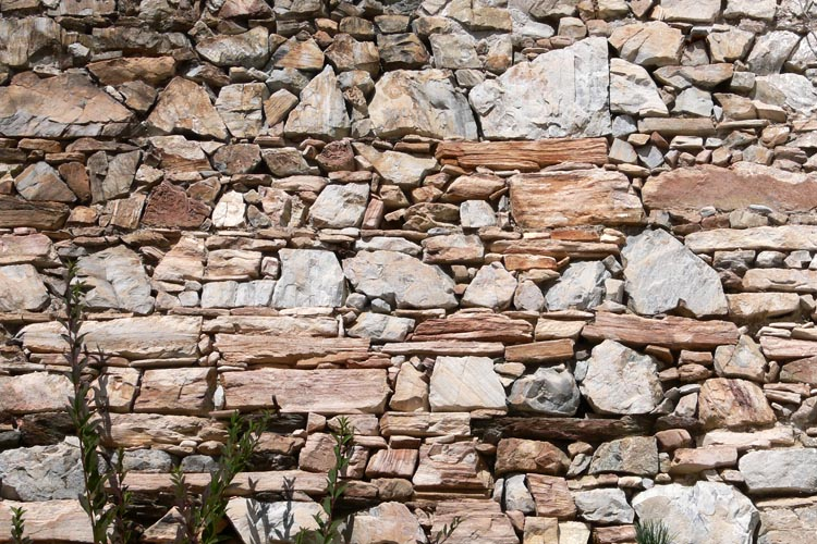 Gross-Sölk: Mauerwerksstruktur an Innenseite der Ringmauer im Westen
