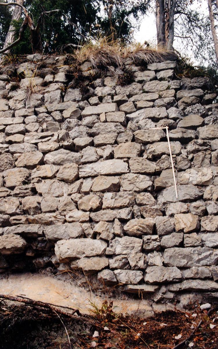 Henneberg: Mauerwerk der Ringmauer