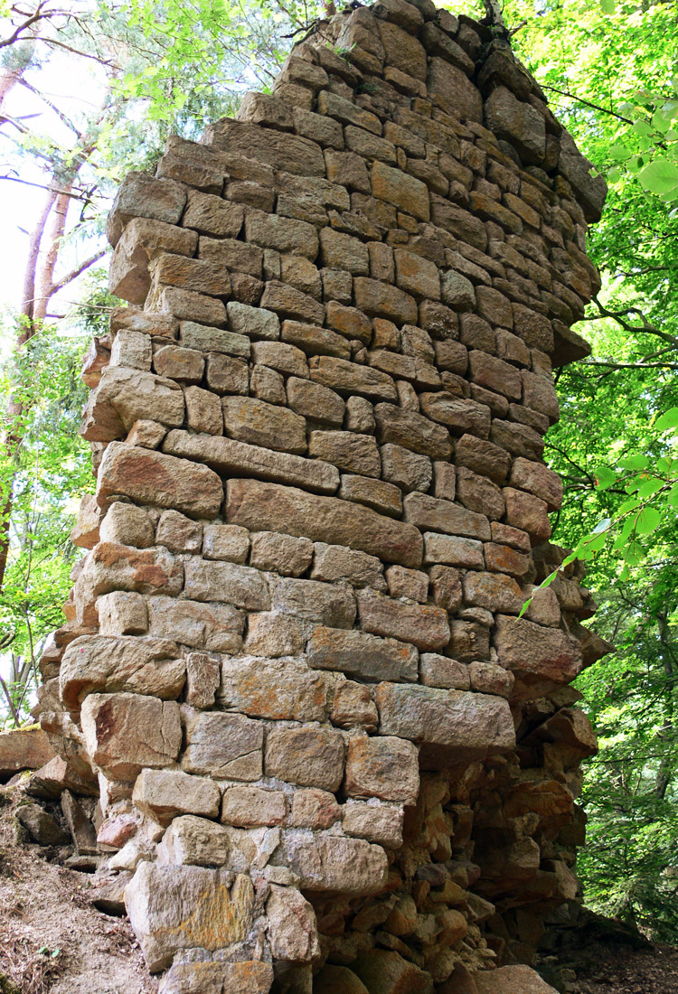 Klamleiten: Mauerzahn des runden Bergfrieds
