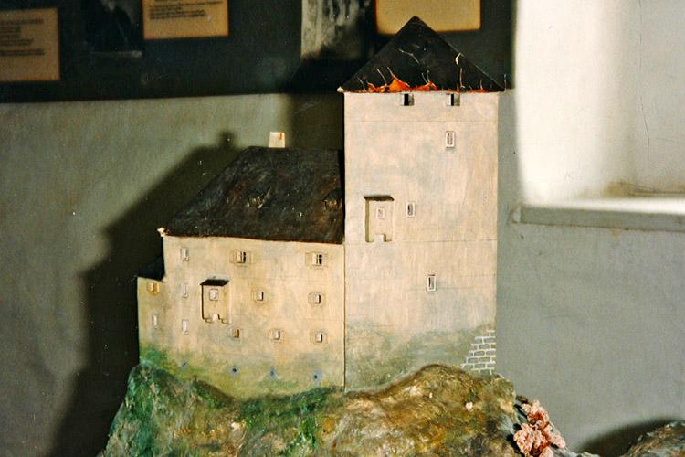 Salla-Klingenstein: Moedell von Völkl im Burgenmuseum Alt-Kainach