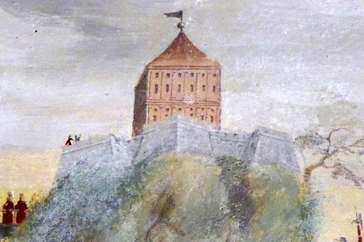 Neuhaus-Trautenfels: Bastion auf den Renaissancemalereien von 1563