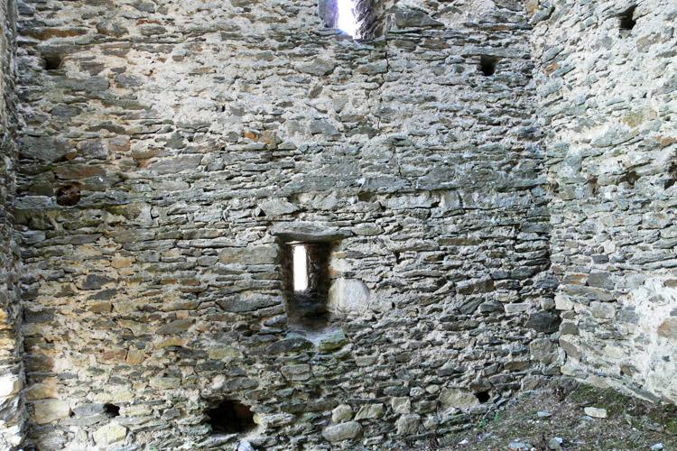 Niederkraig Wohnturm, Erdgeschoss Westseite