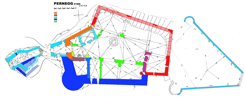 Pernegg: Grundriss und Baualterplan