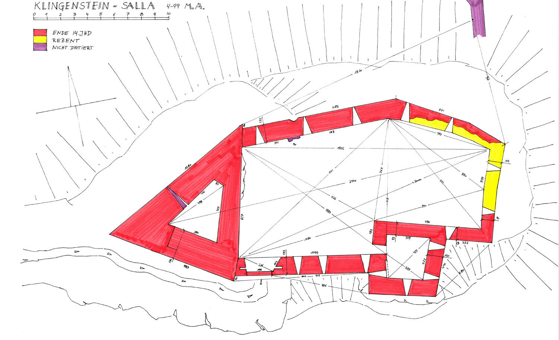 Salla-Klingenstein: Grundriss der Burganlage