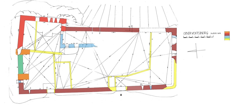 Obervoitsberg: Grundriss und Baualterplan
