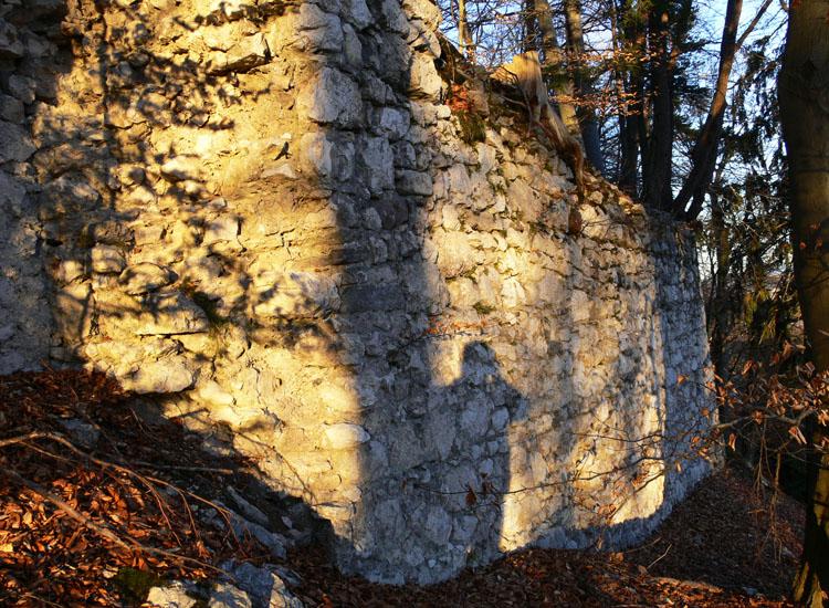 Federaun: Kompartimentmauerwerk der südlichen Vorburgmauer