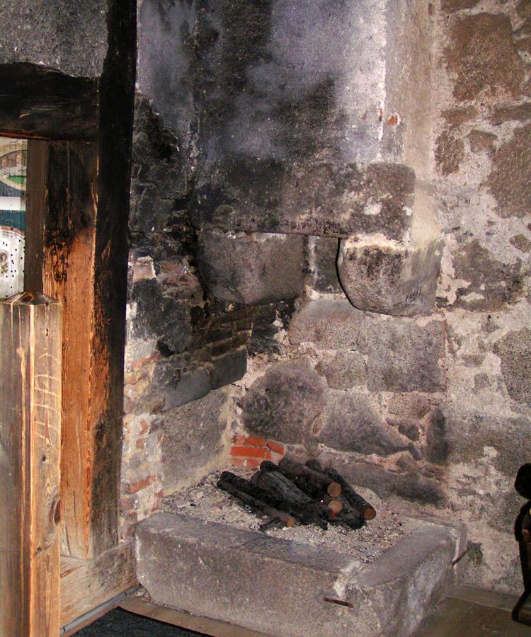 Freistadt: offener Kamin in der Türmerstube