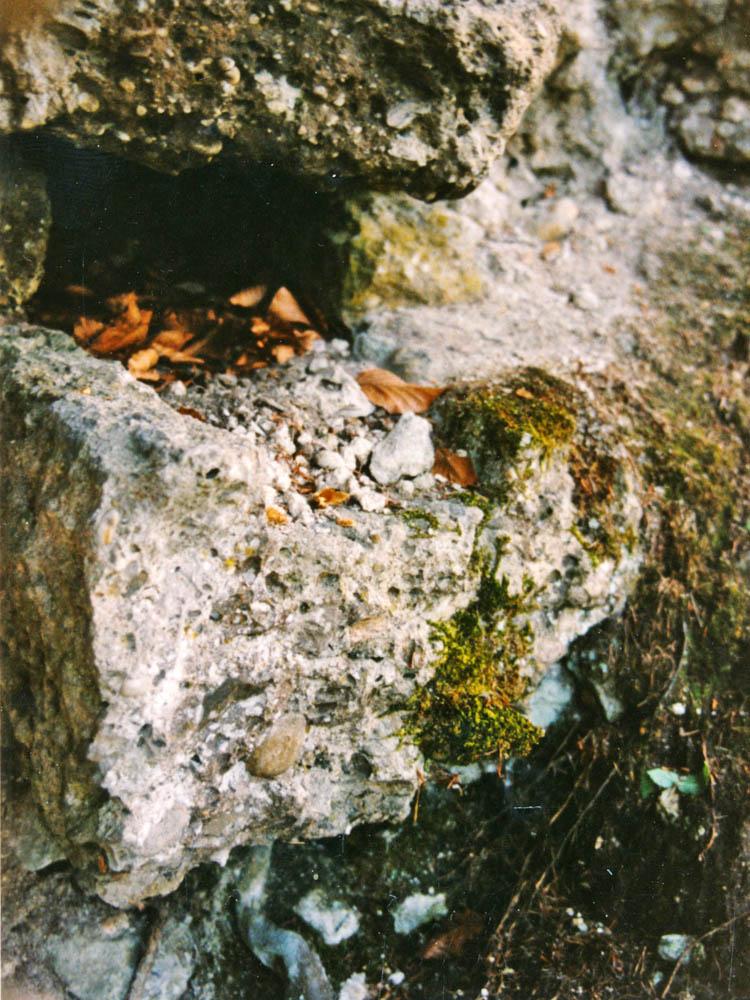 Greifenfels: Ausgussstein an der Nordseite