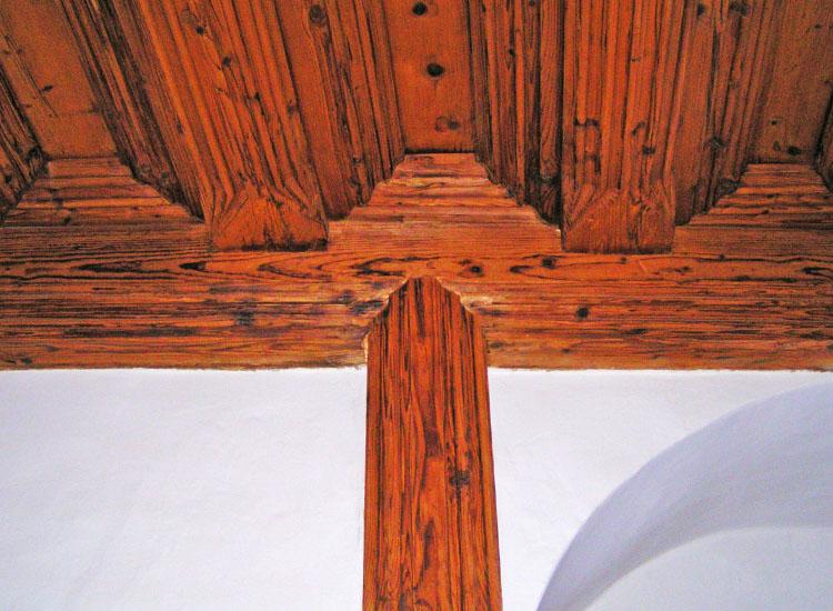 Hohensalzburg: Decke um 1500 mit Steher