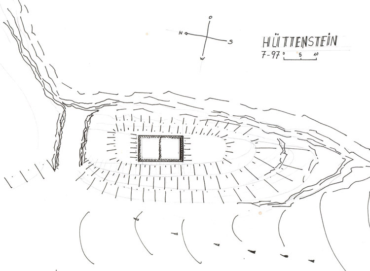 Hüttenstein: Grundriss-Skizze