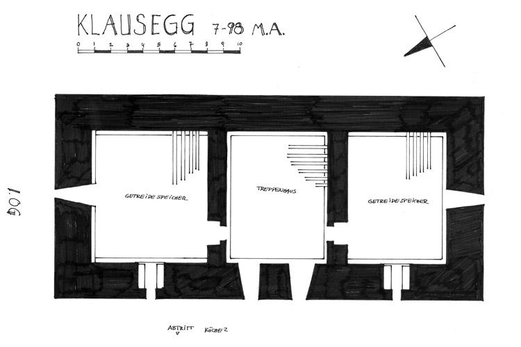 Klausegg: Grundriss 2. Obergeschoss