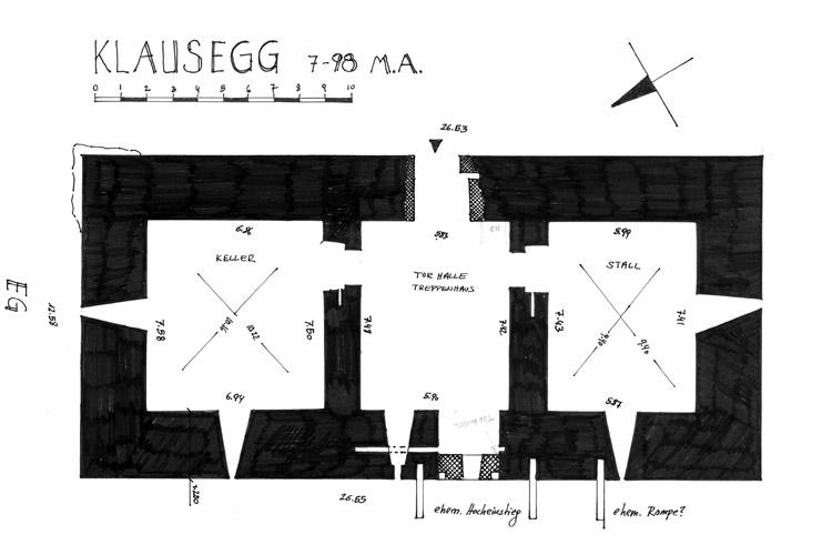 Klausegg: Grundriss Erdgeschoss
