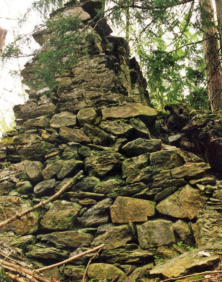 Leobenegg: nördliche RIngmauer