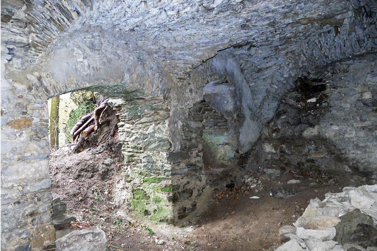 Neu-Leonroth: Anbau östlich der Kapelle, Kellergewölbe