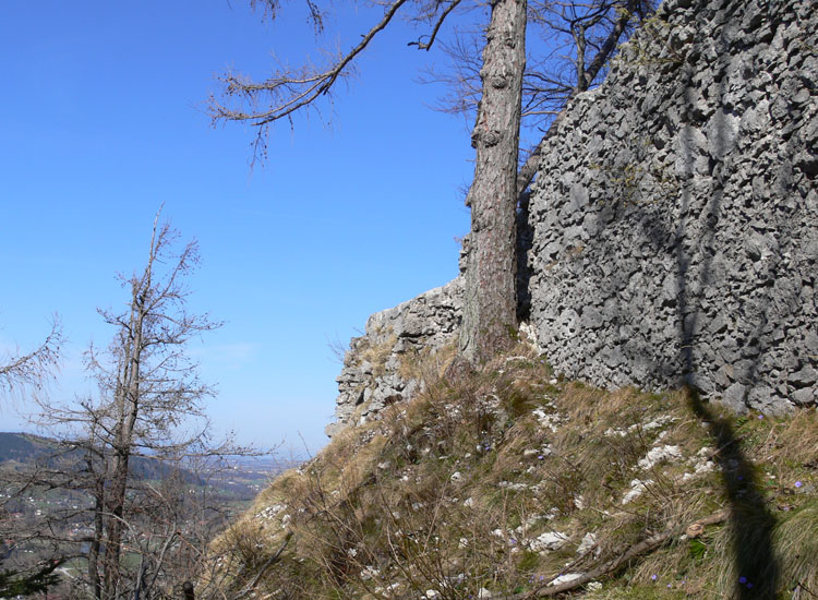 Mitterturm: Ringmauer, Blick gegen Norden