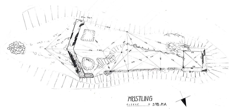 Möstling: Grundriss der Burganlage