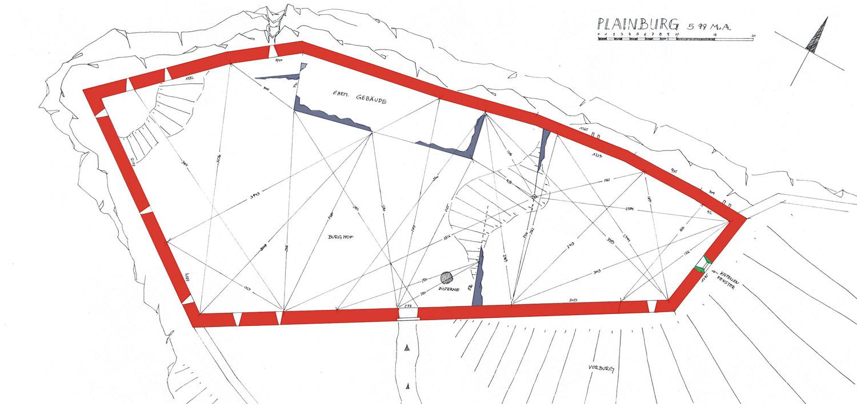 Plainburg: Grundriss der Kernburg