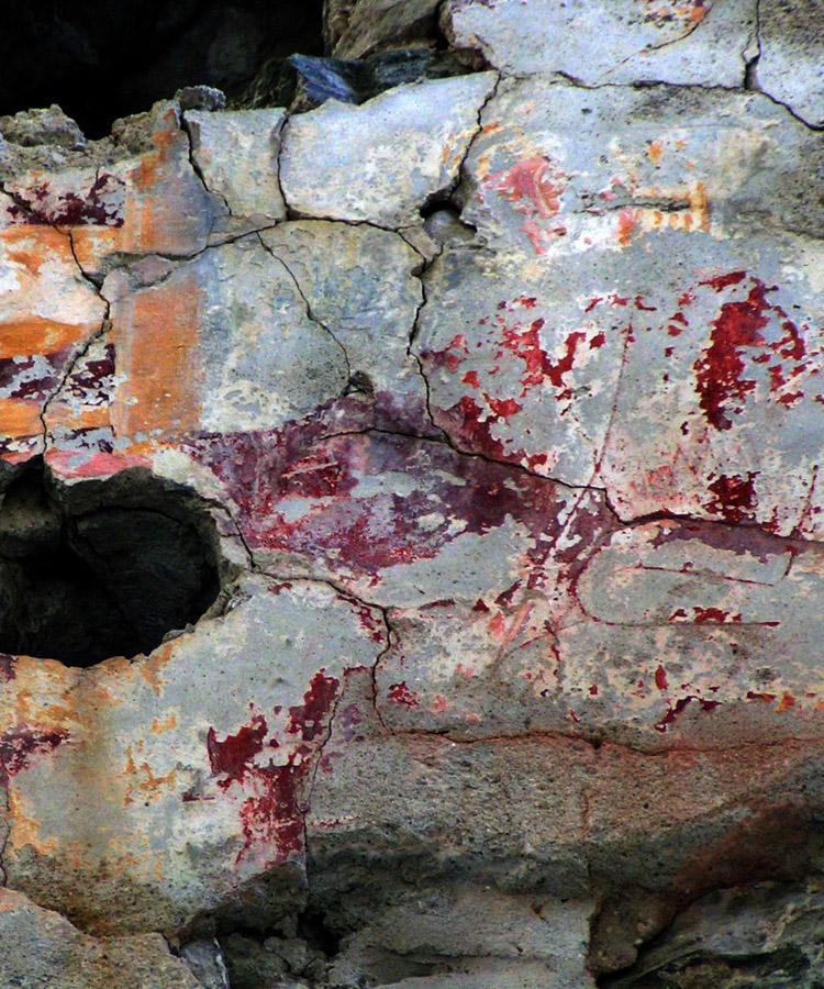 Rabenstein-Virgen: Figur mit Nimbus an der Südwand