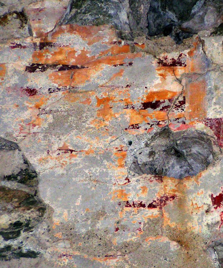 Rabenstein-Virgen: Rautenmuster an der Südwand