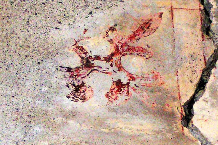 Rabenstein: florales Muster