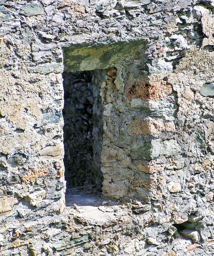 Rabenstein-Virgen: Aussenseite des Schiebeladenfesnters