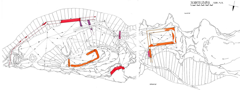 Schintelburg: Grundriss der Burganlage