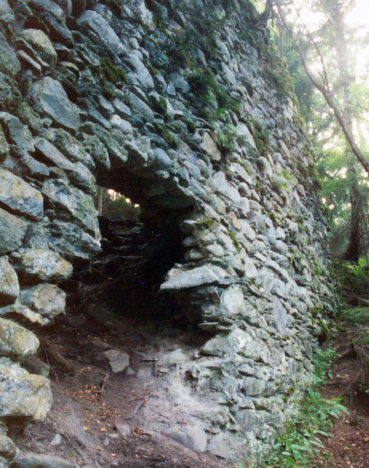 Statteneck: Ringmauer an der Nordseite