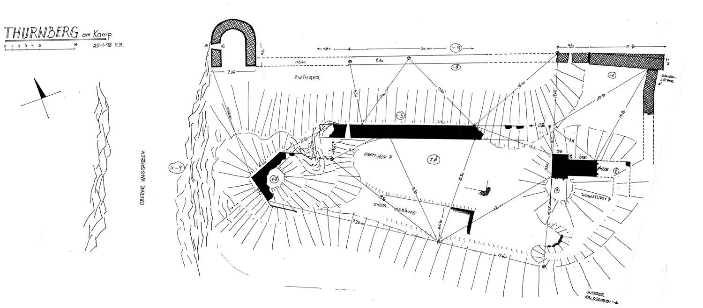 Thurnberg: Grundriss der Burganlage