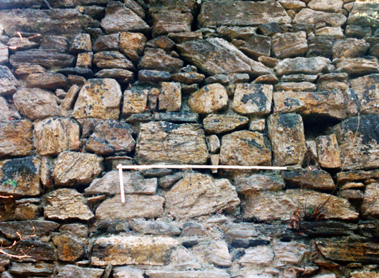Thurnberg: Mauerwerkstuktur der nördlichen Ringmauer