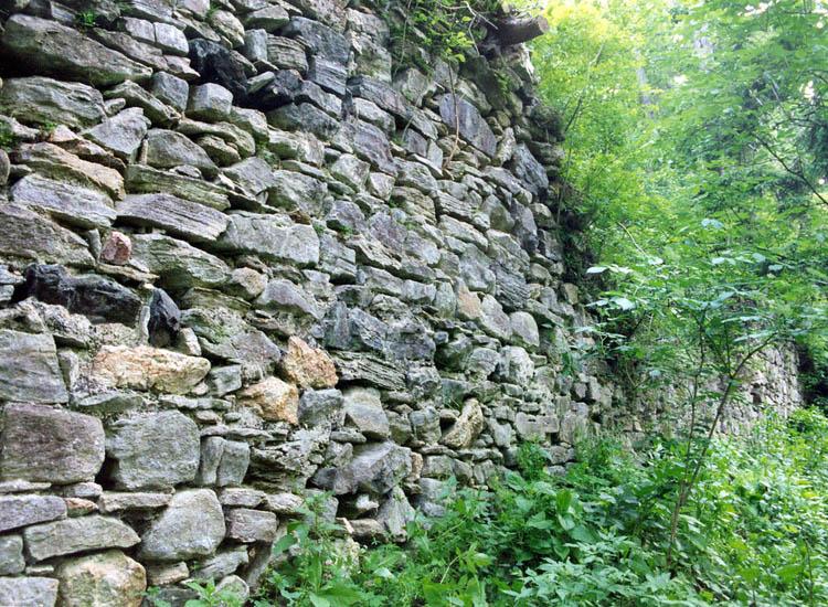 Thurnberg: Verlauf der nördlichen Ringmauer